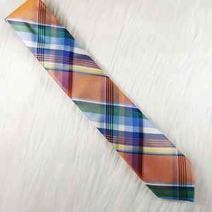 Tommy Hilfiger Narrow Plaid Multicolor Silk Tie